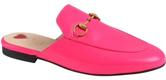 neon pink gucci loafer