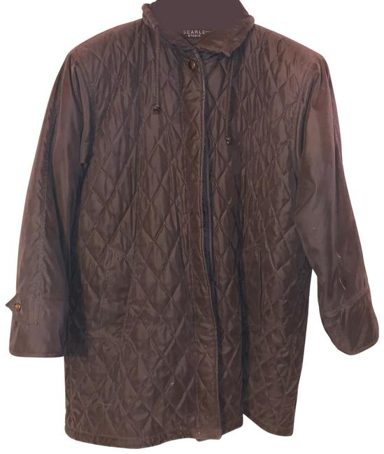 Item - Black Quilted Silk Car with Sheared Beaver Liner Coat Size 12 (L)