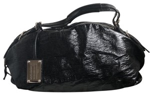 Dolce&Gabbana Vintage Patent Leather Satchel in black with leopard lining