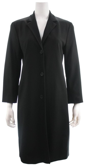 Item - Black Wool Blend Coat Size 10 (M)