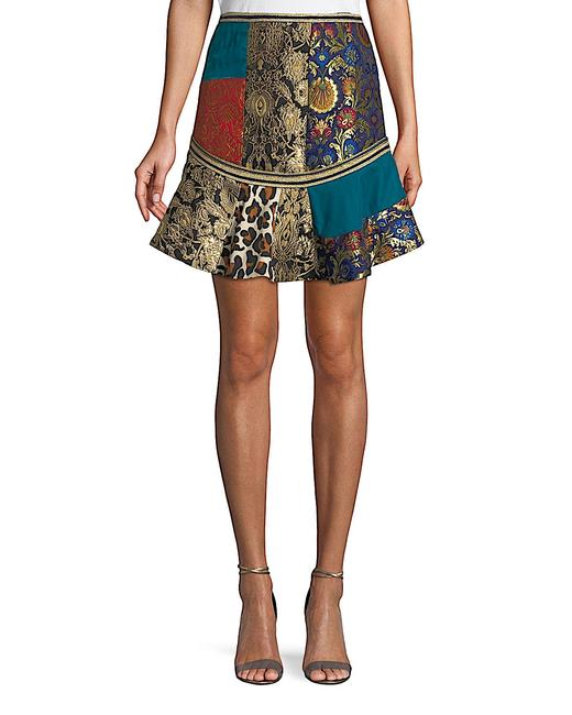 Item - Multi with Tag Eriko Patchwork Brocade Printed Crepe and Satin Skirt Size 4 (S, 27)
