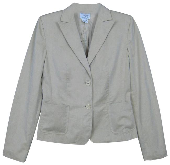 Item - Beige Stretch Single Breasted Patch Pockets Two Button Blazer Size 4 (S)