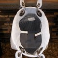 Dior Lady Cannage Soft Tote White Leather Hobo Bag Dior Lady Cannage Soft Tote White Leather Hobo Bag Image 11