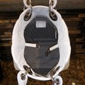 Dior Lady Cannage Soft Tote White Leather Hobo Bag Dior Lady Cannage Soft Tote White Leather Hobo Bag Image 8