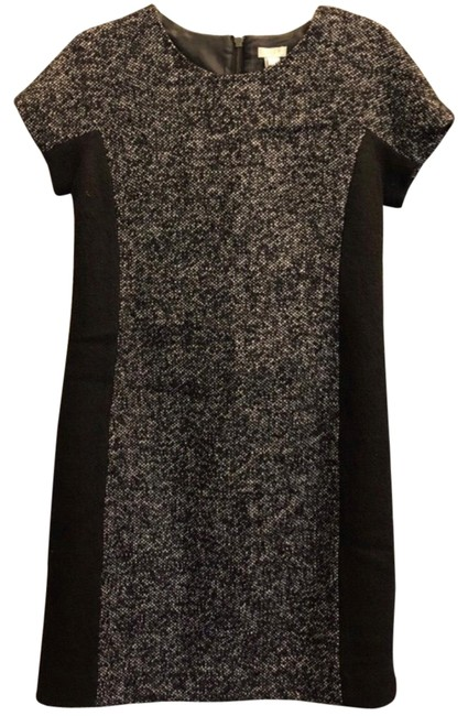 Preload https://img-static.tradesy.com/item/26524692/jcrew-black-and-white-mid-length-workoffice-dress-size-2-xs-0-1-650-650.jpg