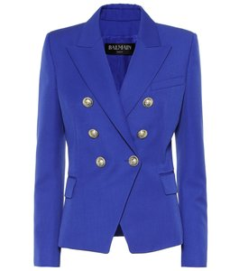 Balmain Chanel Studded Blue Blazer