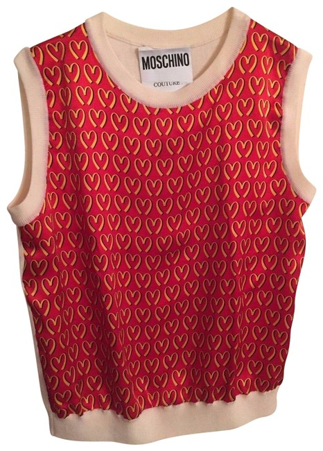 Moschino Red Yellow Couture J Scott Mcdonald's Fast Food Knitted Sleeveless Tank Top/Cami Size 4 (S) Moschino Red Yellow Couture J Scott Mcdonald's Fast Food Knitted Sleeveless Tank Top/Cami Size 4 (S) Image 1