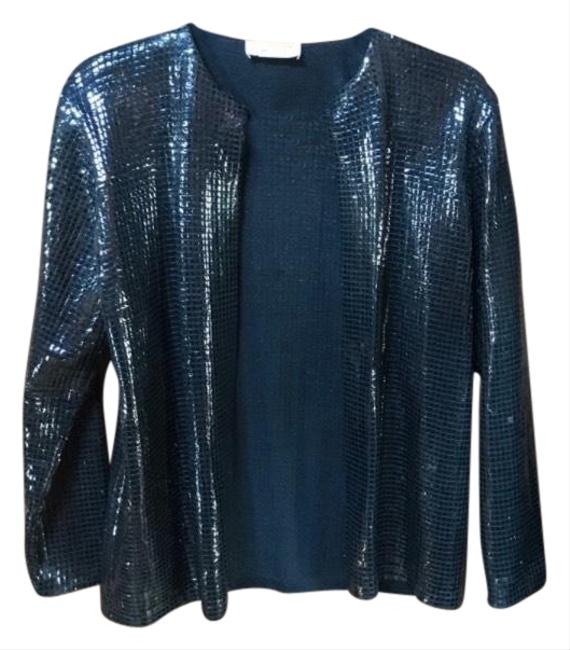 Item - Black By Marie Grey Sequin Open Jacket Size 4 (S)