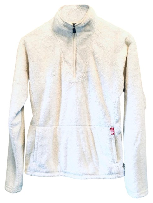 Item - Ivory Furry Quarter Zip Pullover Activewear Outerwear Size 6 (S)