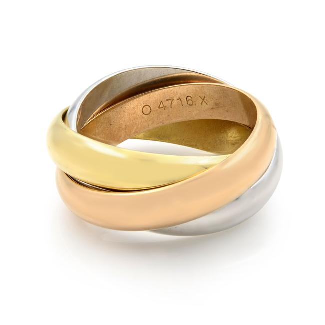 Item - 18k White Yellow and Pink Gold Trinity Classic Band 4.5 Ring