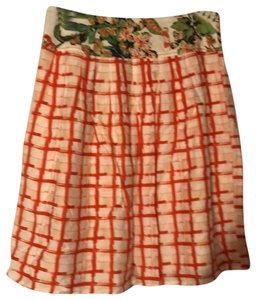 Anthropologie Skirt red, white and green