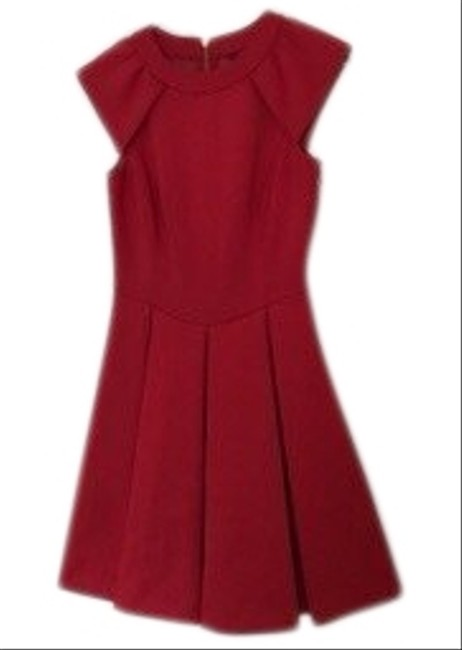 Item - Red Pleated A-line Short Cocktail Dress Size 0 (XS)