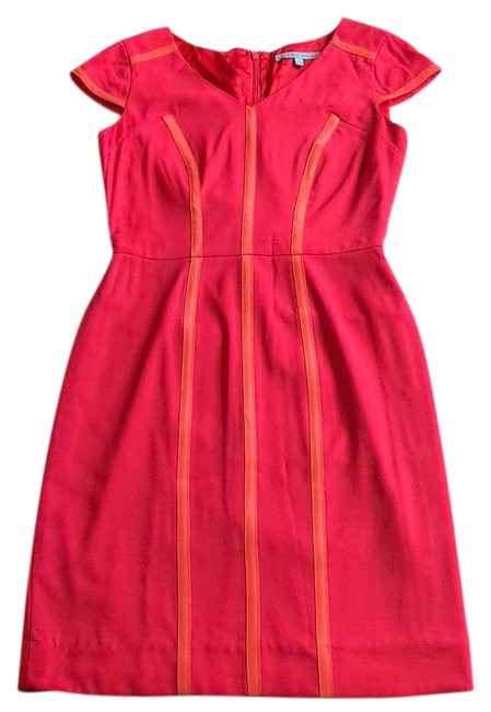 Preload https://img-static.tradesy.com/item/26525624/antonio-melani-pink-and-orange-mid-length-workoffice-dress-size-2-xs-0-1-650-650.jpg