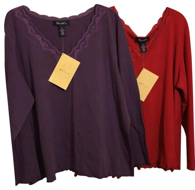Item - Rn 81893 (Set Of 2) Purple and Red Top