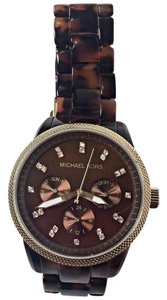 Michael Kors Tortoise Shell & Crystals Jet Set Watch