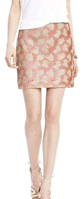 Item - Pink All Sequin Animal Print Sparkle Zip Off White Skirt Size 2 (XS, 26)