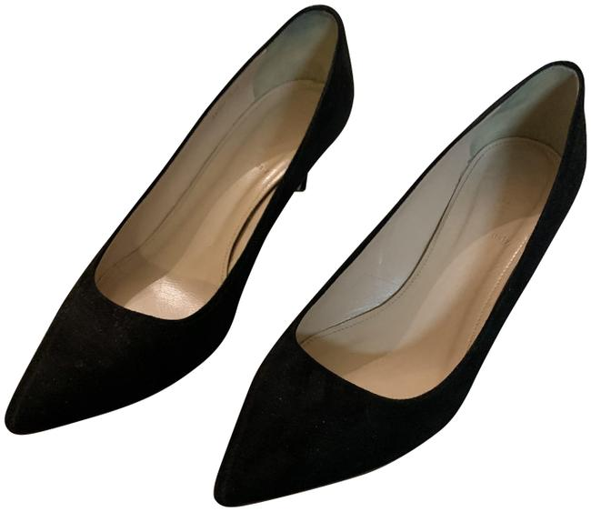 Item - Black Suede Kitten Pumps Size US 7.5 Regular (M, B)