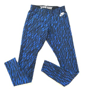 NIKE NIKE ALL OVER PRINT BLUE BLACK LEGGINGS SMALL