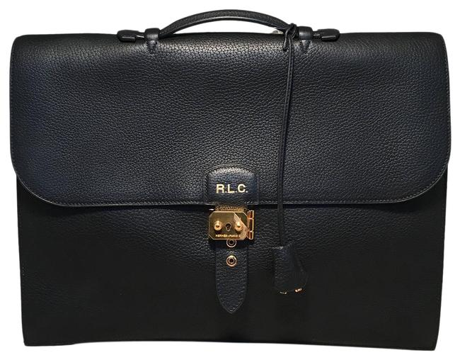 Item - Noir Sac A Depeches 41 Briefcase Black Togo Leather Tote