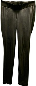 Séraphine Faux Leather Panel Maternity Leggings - as seen on celebs - size 8!