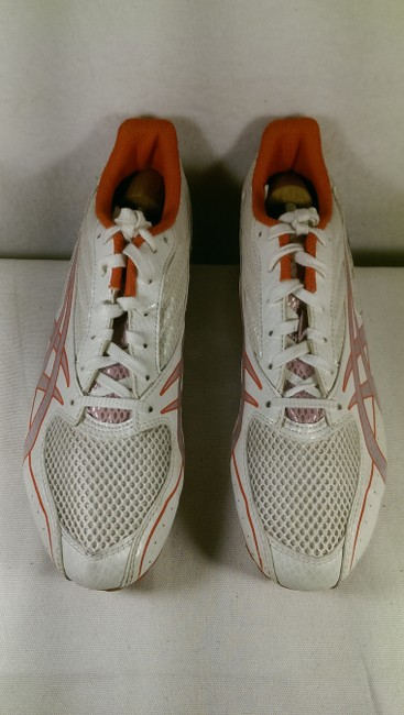 Asics White W/Red Accents Girl Hyper Rocket Woman's Track and Field Spike Lace-up Sneakers Size US 9.5 Regular (M, B) Asics White W/Red Accents Girl Hyper Rocket Woman's Track and Field Spike Lace-up Sneakers Size US 9.5 Regular (M, B) Image 8