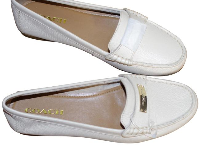 Item - Cream Pink Casual Loafers In Patent Leather Flats Size US 9 Regular (M, B)