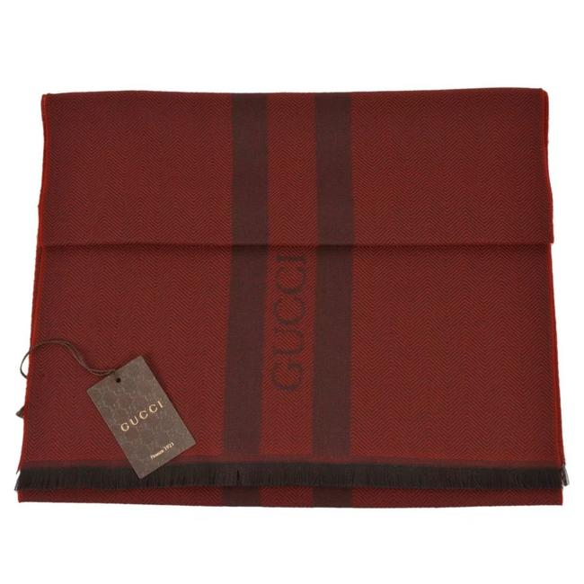 Item - Burgundy/Black 544628 Wool New Scarf/Wrap
