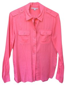 Gap Prep Preppy Trendy Layer Button Down Shirt Pink