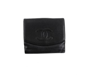 Chanel Caviar Leather Compact Clutch Snap Cocomark