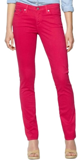 Item - Pink The Stilt Raspberry Colored Straight Skinny Jeans Size 27 (4, S)