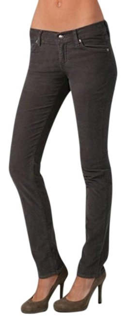Item - Brown Distressed Roxanne Gummy Bark Skinny Jeans Size 27 (4, S)