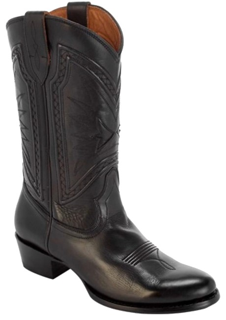 Item - Black Rosaline Braid Tall Leather Western Boots/Booties Size US 6 Regular (M, B)