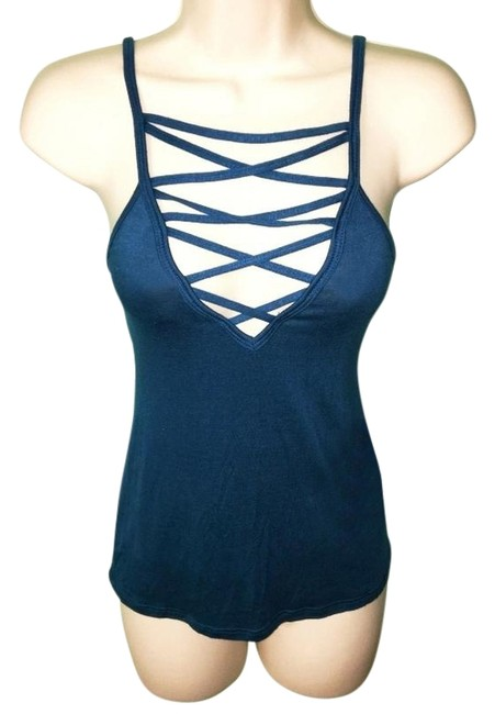 Item - Teal Urban Outfitters Nordstrom Strappy V-neck Tank Top/Cami Size 2 (XS)