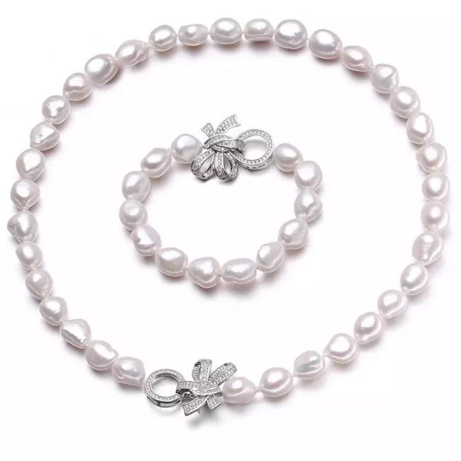 Item - White The Adoya Natural Freshwater Pearl Set Necklace