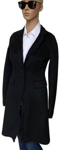 DKNY Wool Wool Topper Long Long black Blazer