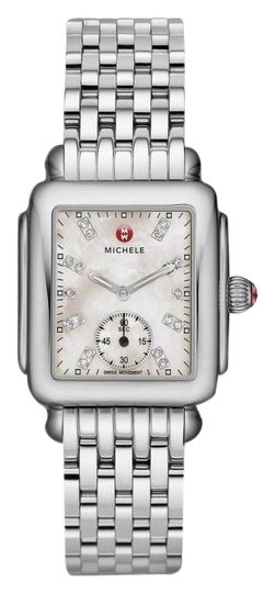 Preload https://img-static.tradesy.com/item/26530132/michele-silver-deco-mid-stainless-steel-mother-of-pearl-diamond-mww06v000002-watch-0-1-540-540.jpg