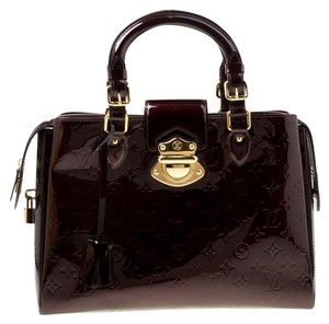 Louis Vuitton Patent Leather Tote in Burgundy