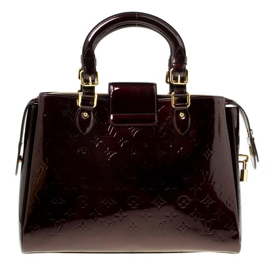 Louis Vuitton Patent Leather Tote in Burgundy Image 1