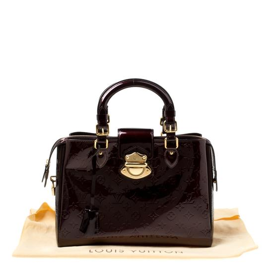 Louis Vuitton Patent Leather Tote in Burgundy Image 11