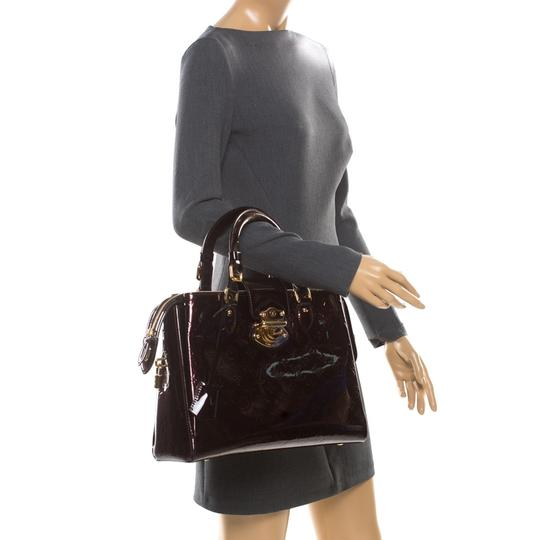 Louis Vuitton Patent Leather Tote in Burgundy Image 2