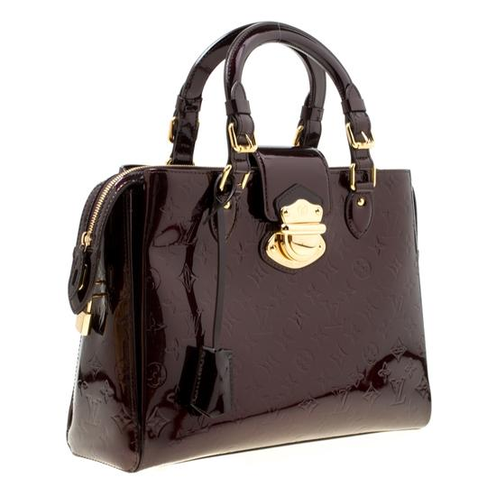 Louis Vuitton Patent Leather Tote in Burgundy Image 3