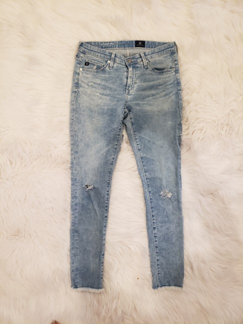 AG Adriano Goldschmied Denim Skinny Jeans-Light Wash Image 3
