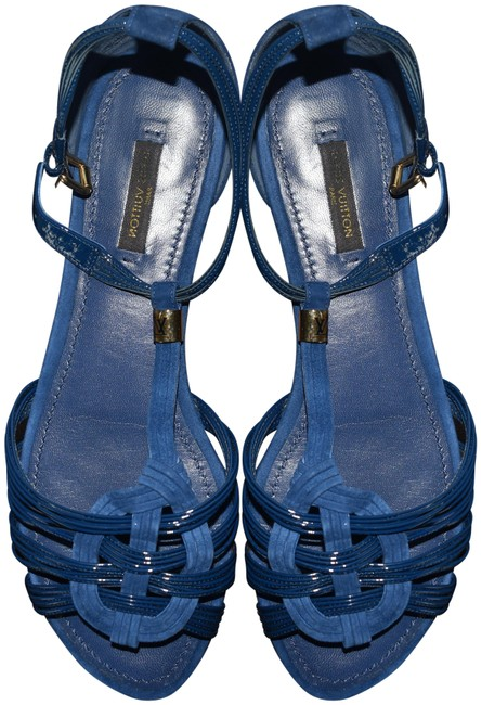 Item - Blue Vaniglia Flat Sandals Size EU 39 (Approx. US 9) Narrow (Aa, N)