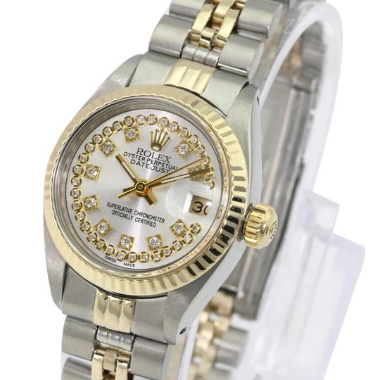 Rolex Rolex Lady Datejust Silver String Diamond Dial Fluted Bezel 26mm Watch Image 1