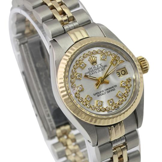 Rolex Rolex Lady Datejust Silver String Diamond Dial Fluted Bezel 26mm Watch Image 2
