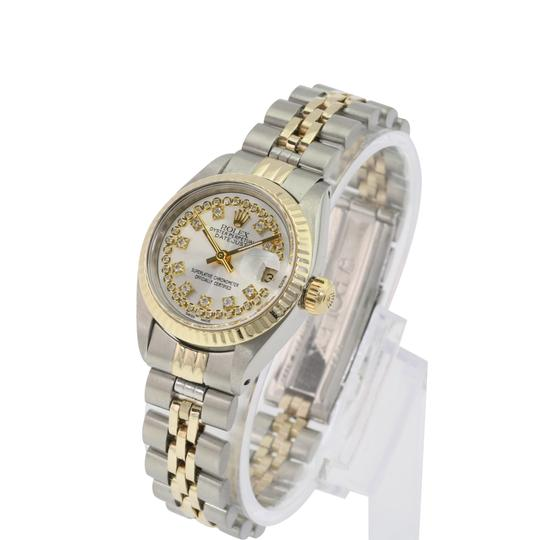 Rolex Rolex Lady Datejust Silver String Diamond Dial Fluted Bezel 26mm Watch Image 4
