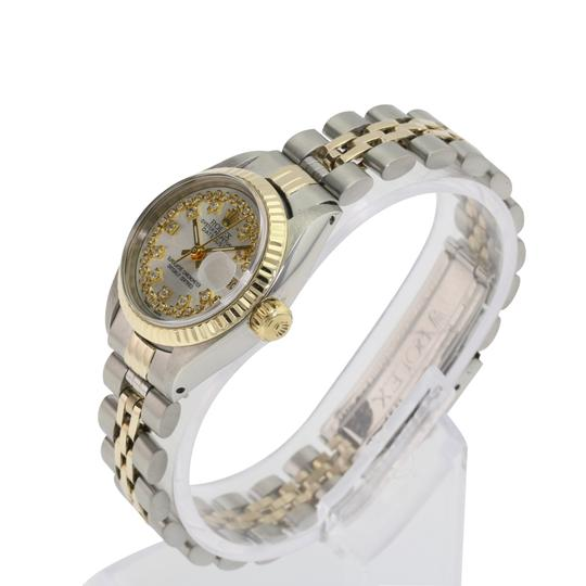 Rolex Rolex Lady Datejust Silver String Diamond Dial Fluted Bezel 26mm Watch Image 5