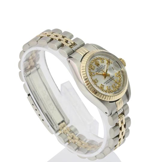 Rolex Rolex Lady Datejust Silver String Diamond Dial Fluted Bezel 26mm Watch Image 6