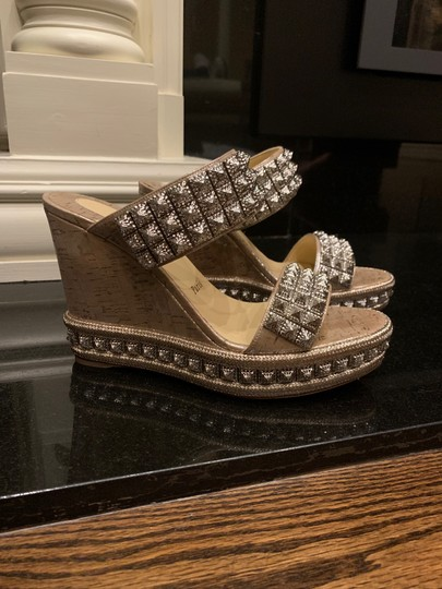 Christian Louboutin silver Wedges Image 1