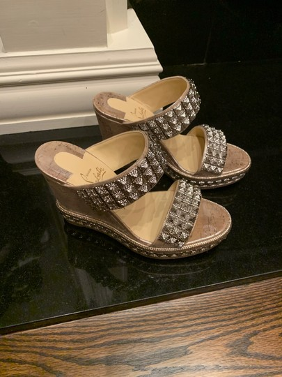Christian Louboutin silver Wedges Image 2